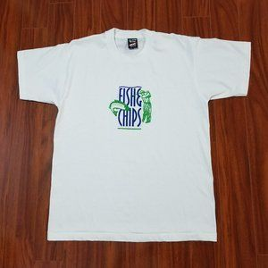 VINTAGE Fish and Chips T-shirt